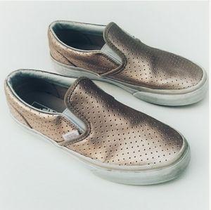 Vans Metallic Slip On Sneakers Youth 4